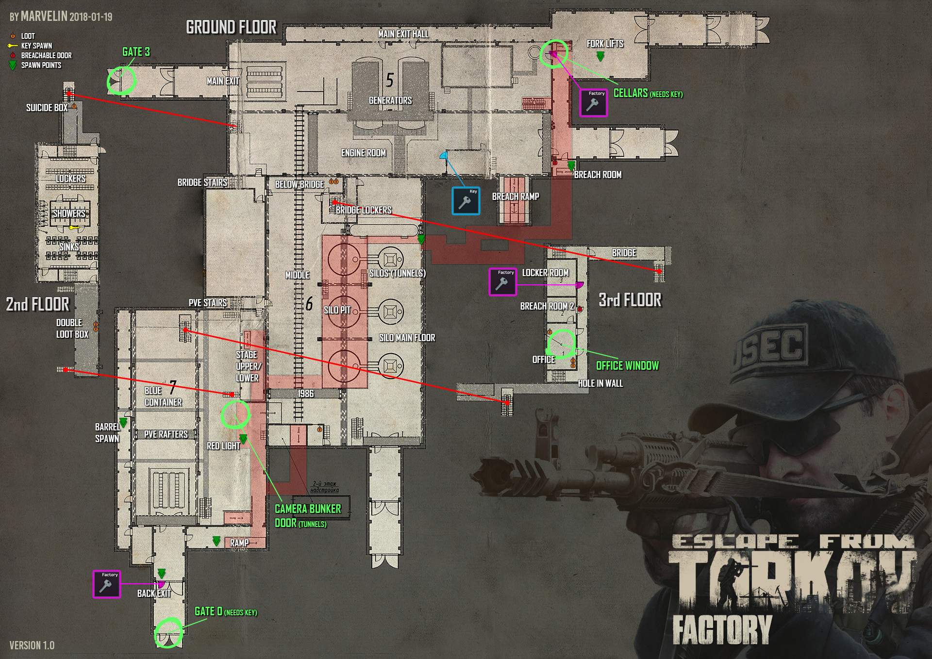 Tarkov Helper App |  Factory map