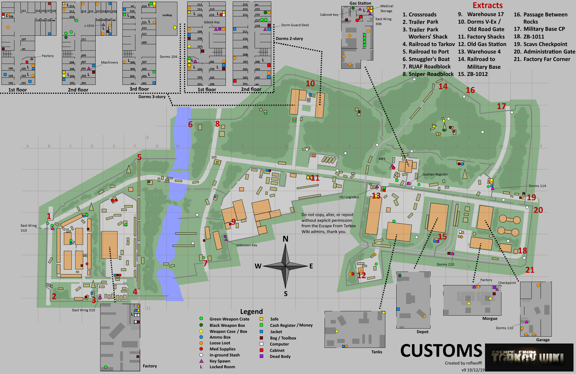 Tarkov Helper App | Customs map